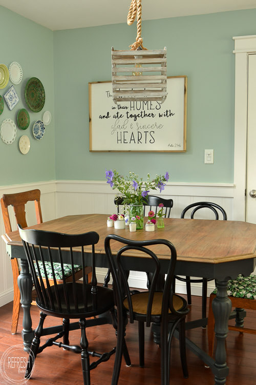 Elegant Room Makeover Completed For Under $100   Including A New Table And Chairs!  Vintage Modern Good Looking