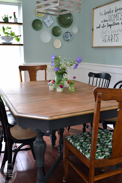 100 Dining Room On A Budget With Mismatched Chairs And Wood Tones