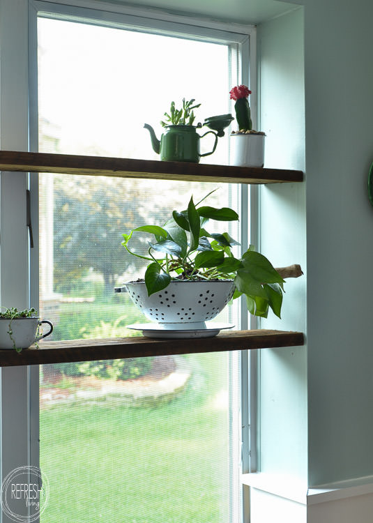 Install Floating Wood Shelves In A Window Nook Few Easy Steps This Indoor