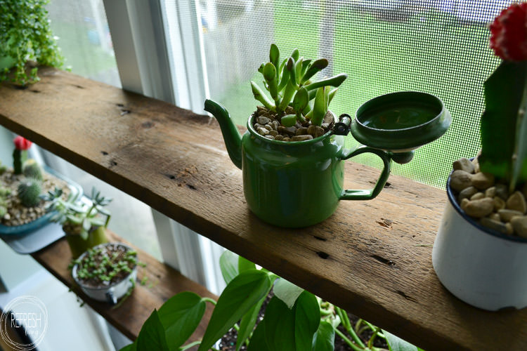 Diy Floating Shelves In Windowsill With