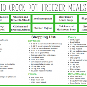 All of these crock pot recipes look so good, and they can be made in less than 2 hours. What a great way to stock up your freezer for busy weeknights.