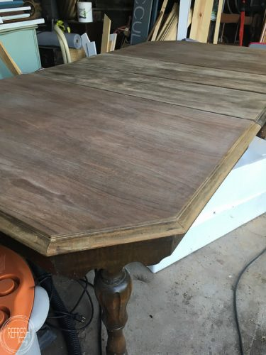 "A $40 dining room table can be transformed into a beautiful and ""new"" piece of furniture!"