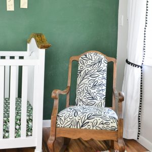 Refinished Vintage Rocking Chair with a Modern Twist