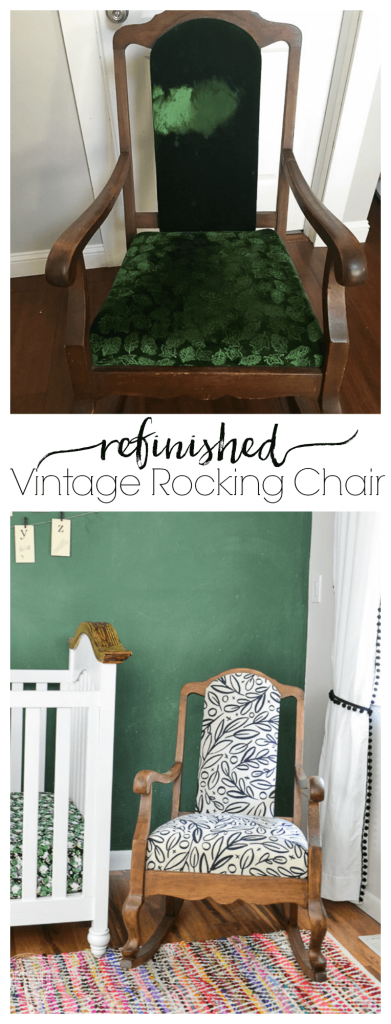 An Old Vintage Rocking Chair Gets A New Look With Stripped Wood And A  Modern Black
