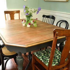 Refinished Farmhouse Dining Table