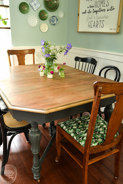 Refinished Farmhouse Dining Table Refresh Living Inspiration Refinishing A Dining Room Table Model