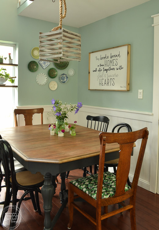 Refinished Farmhouse Dining Table Refresh Living