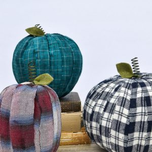 Easy DIY Pumpkins with Old Flannel Shirts