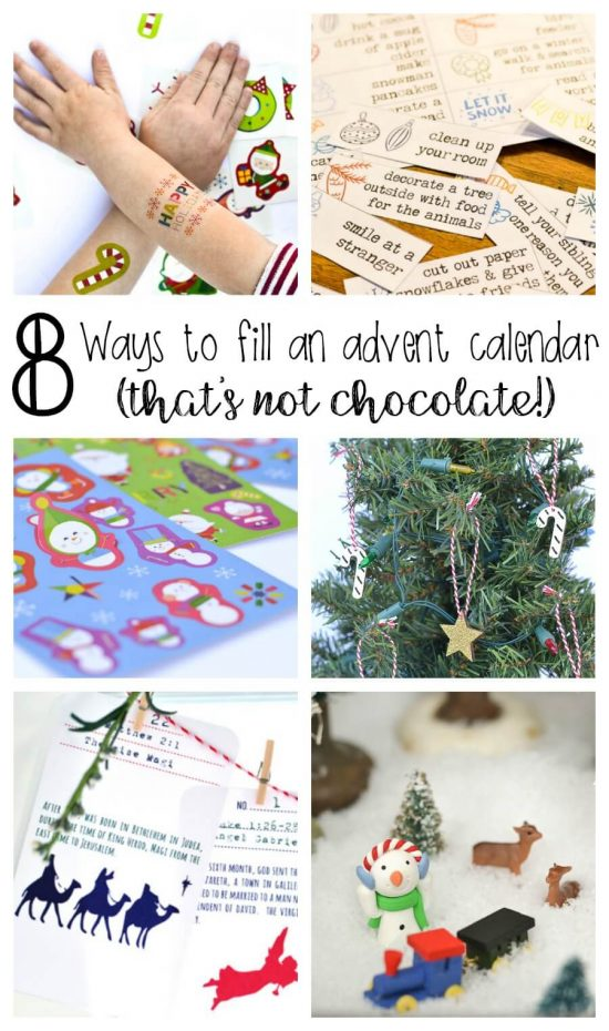 There are so many other ways to count down the days until Christmas besides with candy and chocolate. My kids would love an advent calendar with all of these ideas!