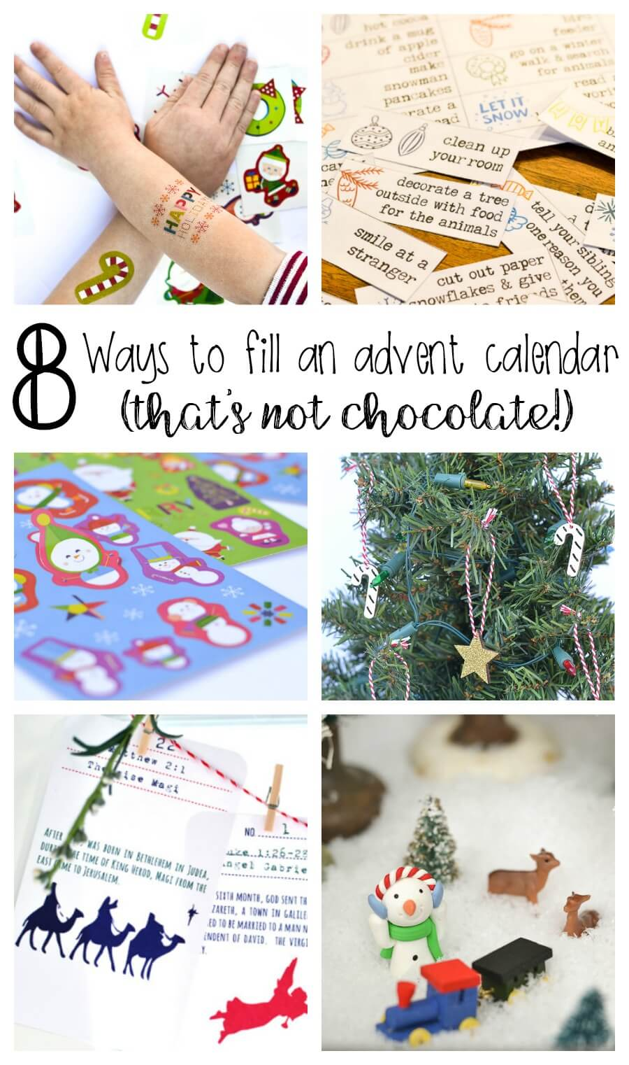 8 Ways to Fill Advent Calendars (without candy or chocolate!)