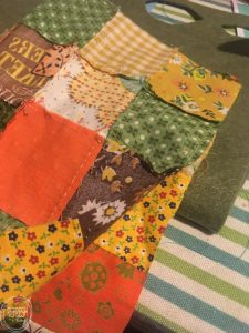 When I found this vintage quilt fabric I knew I could use it to create something for fall. These pumpkins are easy to make and one of a kind! DIY fabric pumpkins with vintage fabric via Refresh Living