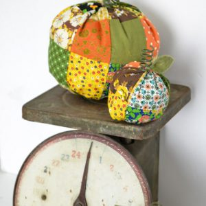 DIY Fabric Pumpkins from Vintage Fabric