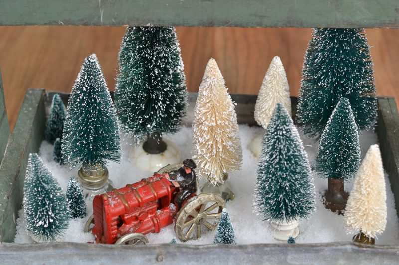 This is such a good idea for a Christmas centerpiece.