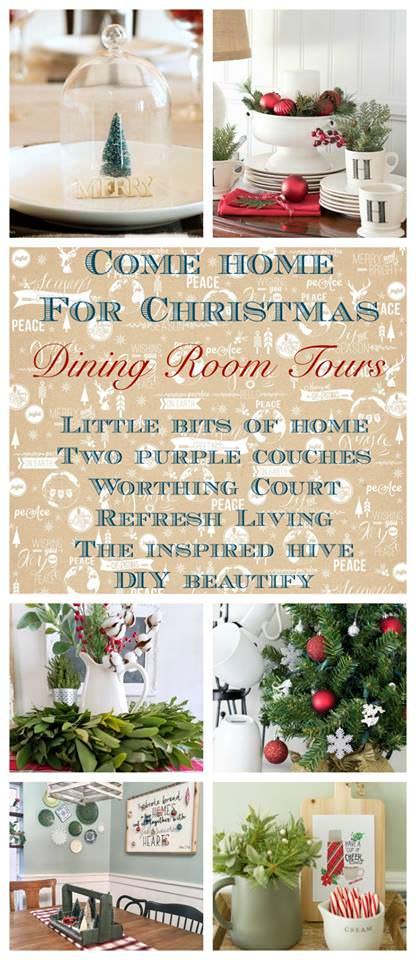 Such pretty dining rooms decorated for Christmas!
