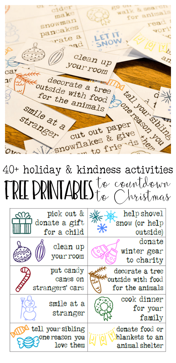 free printables advent calendar with holiday activities - Refresh Living