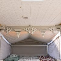 How to install ceiling panels on pop up camper or RV roof. An easy cosmetic update!