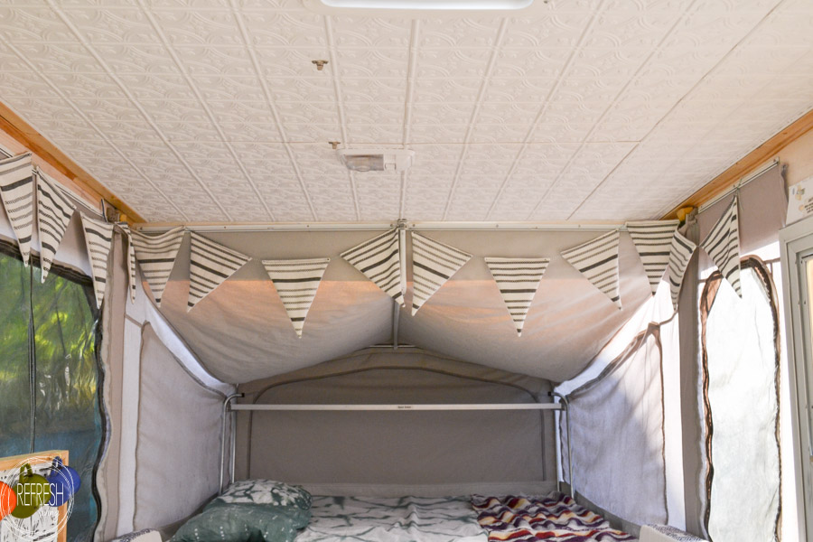 Pop-Up Camper Remodel: Giving the Ceiling a Facelift