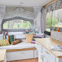 There are so many DIY projects in this pop up camper.