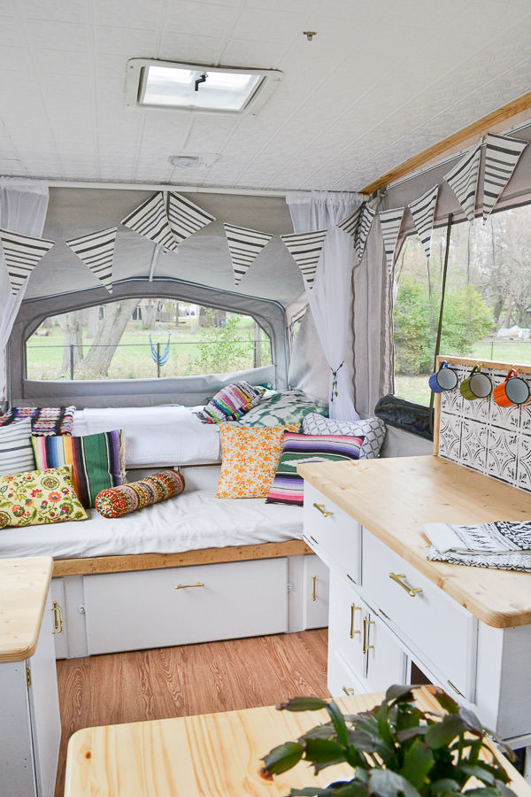 There Are So Many DIY Projects In This Pop Up Camper