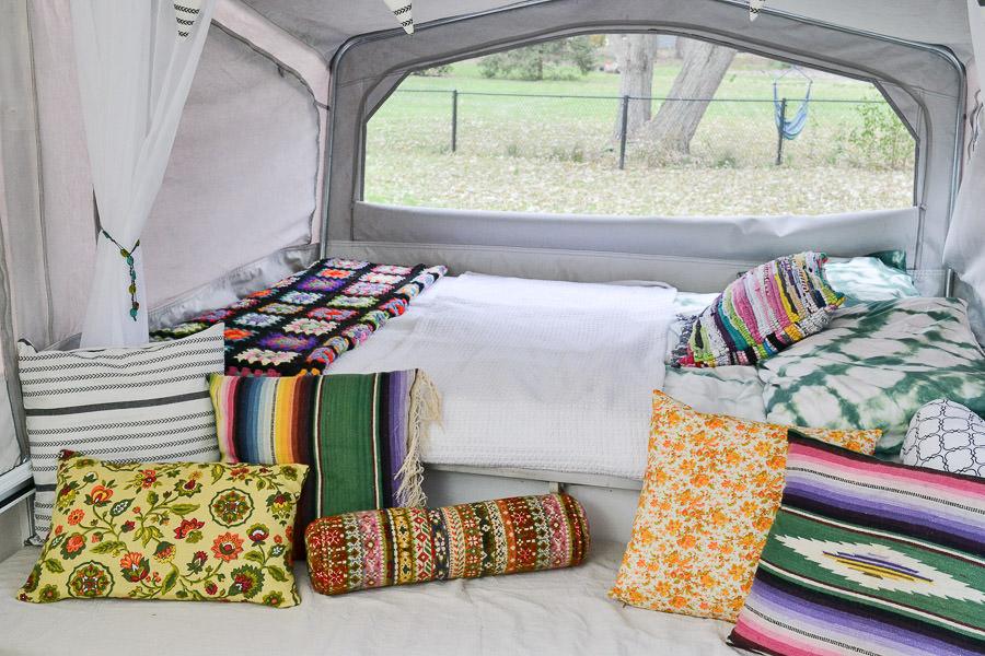 Remodeled Pop Up Camper Rv With Vintage Boho Electic