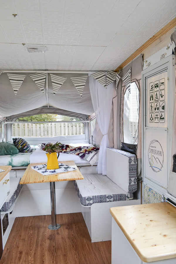 Pop Up Camper Remodel Reveal Refresh Living
