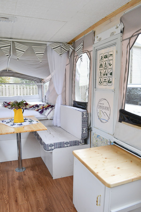 Remodeled Pop Up Camper Rv With Vintage Boho Electic
