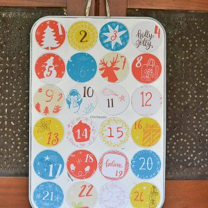 DIY Advent Calendar (from an old muffin tin)