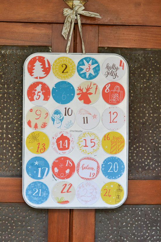 Diy Advent Calendar Muffin Tin : Diy advent calendar from an old muffin tin refresh living