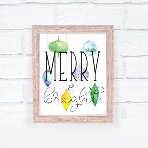 Free Christmas Printable Watercolor Art