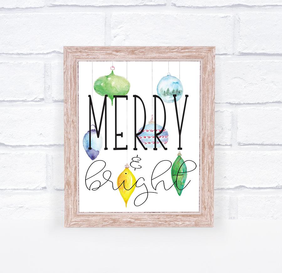 Free Christmas Printable Watercolor Art