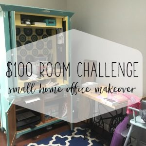 Home Office Makeover: Week 1 of $100 Room Challenge