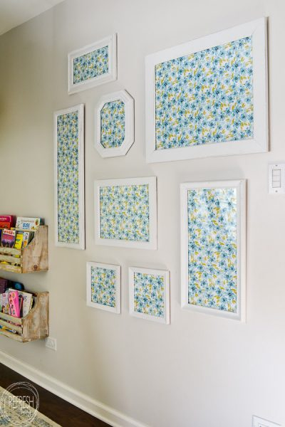 Alternative to Wallpaper: Gallery Wall from Second-Hand Frames