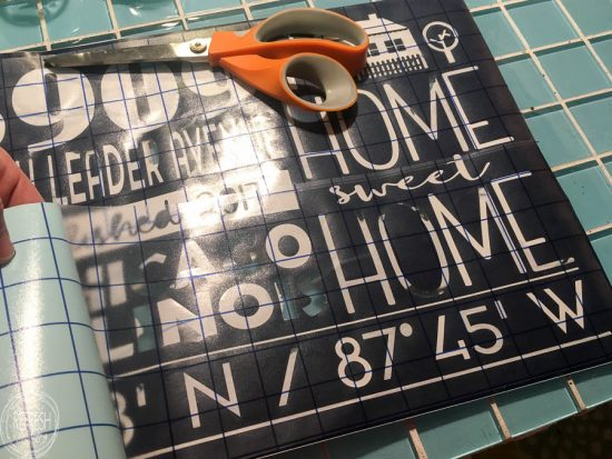 This customized home address graphic with coordinates can be used on so many different home decor items.