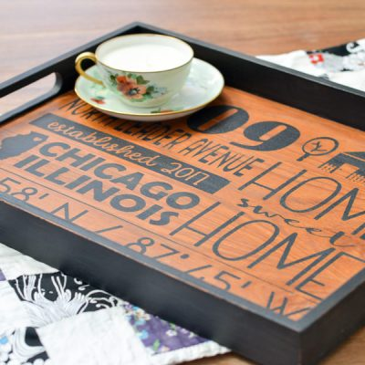 DIY Gift for the New Home Owner (upcycled from a thrift store tray!)