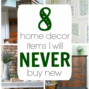 Home Decor Items that I Never Buy New