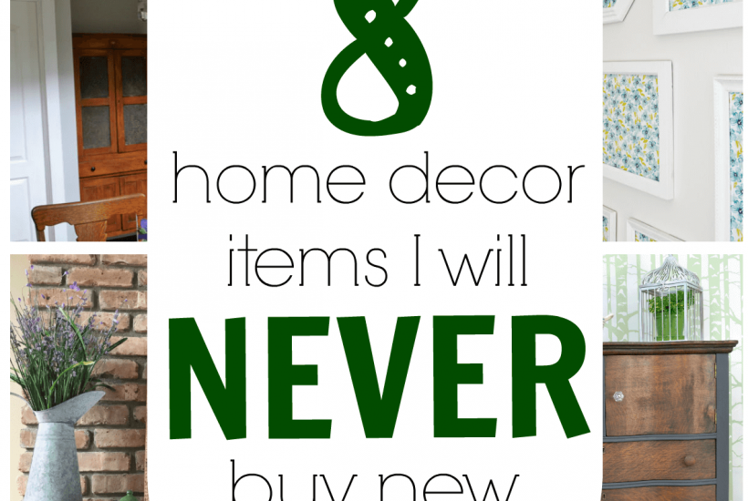 Some of these items I always buy second hand too, but I never thought of some of these other home decor items. Includes tips on where to find these items and the best price to pay. Great ideas for thrift shopping for used home decor!