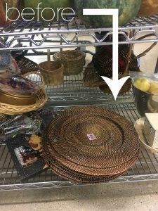 I'm not passing this up next time I see one! Check out how a plate charge from the thrift store is transformed into a beautiful spring decoration.