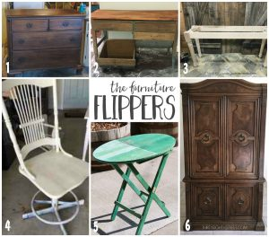 Monthly furniture refinishing series hosted by a group of DIY bloggers with tons of tips on how to refinish and paint furniture.