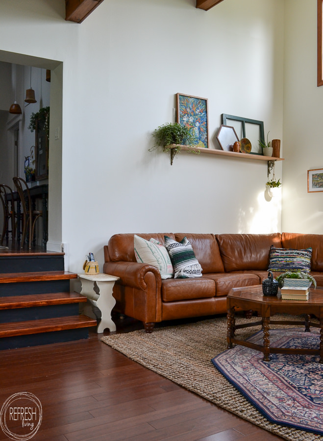 electic vintage modern living room with antique and vintage ...