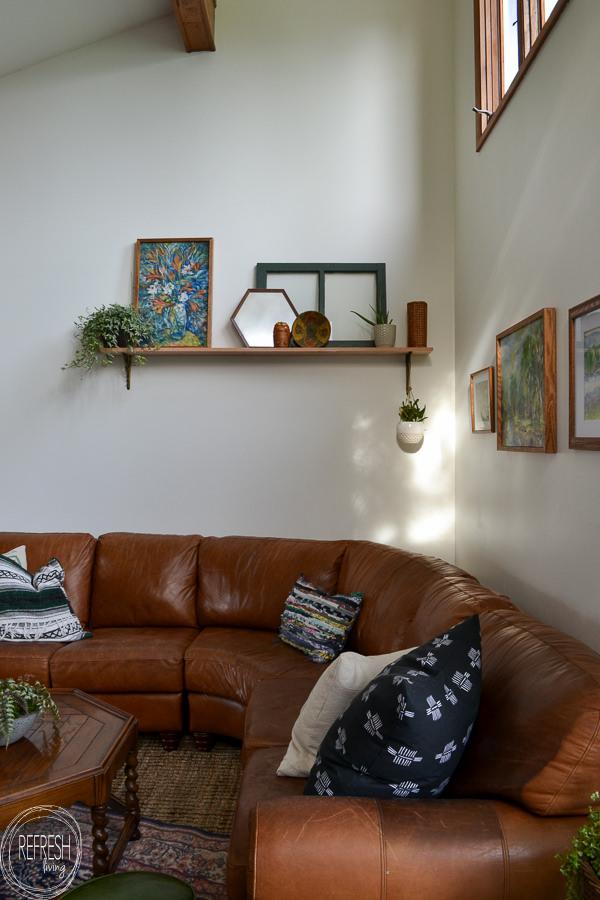 vintage modern living room with antique and vintage finds ...