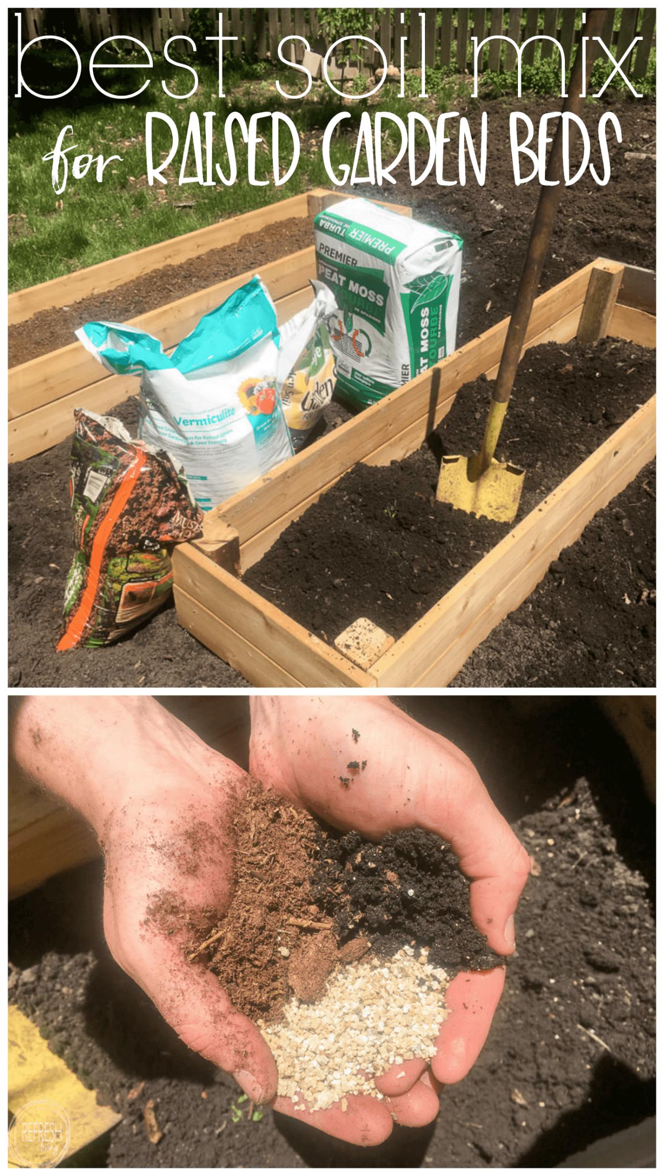 best soil for raised beds in vegetable gardens - Refresh Living