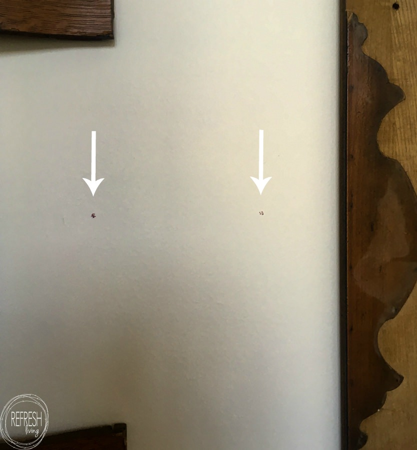 how to hang a frame level with two brackets on the back (5 of 8 ...