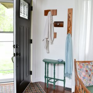 DIY Coat Rack for a Small Entryway from Old Drawer Fronts