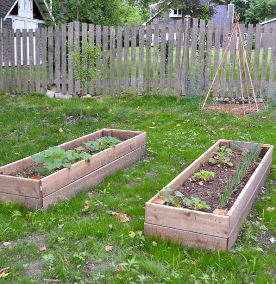 DIY Raised Garden Bed (and an easy soil mixture blend to ...