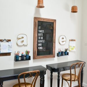 Reuse an Old Table to Make Wall-Mounted Desks