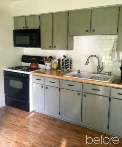 By replacing the cabinet doors of your kitchen, you can completely update the look of your kitchen but spending a fraction of what it would cost to replace the entire cabinet. Refaced kitchen cabinets via Refresh Living.