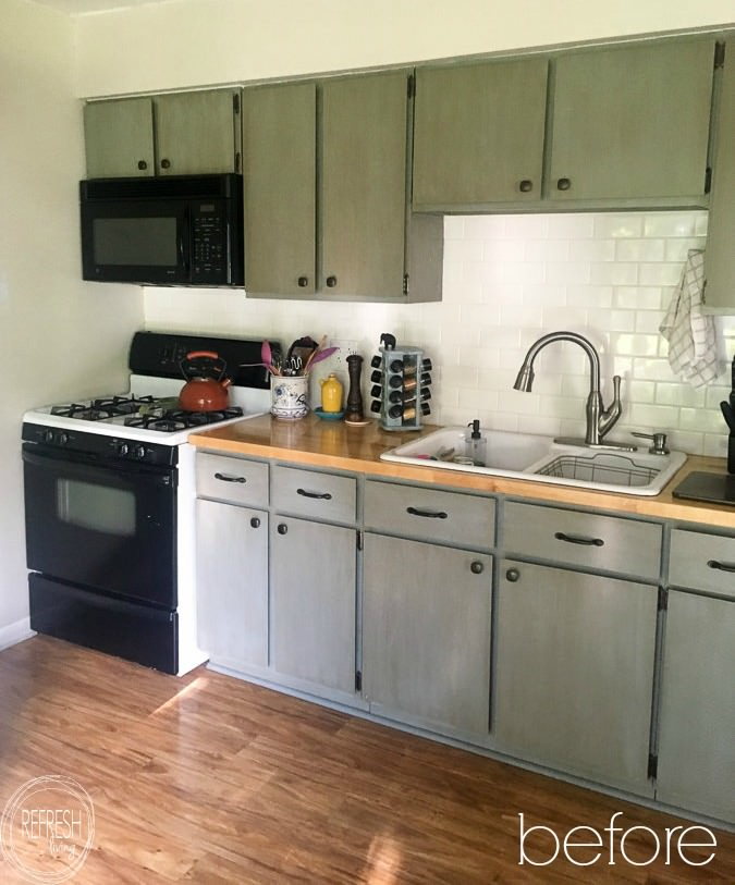 Reface Kitchen Cabinets With Wood Doors Before