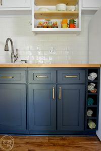 remodel kitchen on a budget by replacing the doors and ...