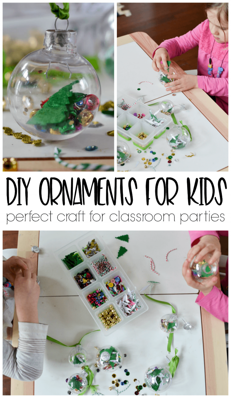 Diy Kids Ornament Perfect Craft For Classroom Christmas