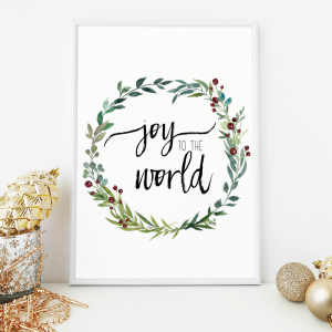 Free Christmas Watercolor Printables